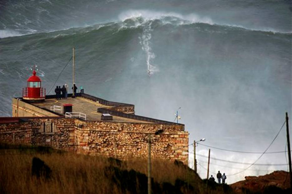 big wave riding record